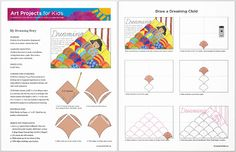 Art Projects for Kids: How to Draw a Dreaming Story - this is a drawing activity, but it also has creative writing and math in it (tessellations) - pretty great!
