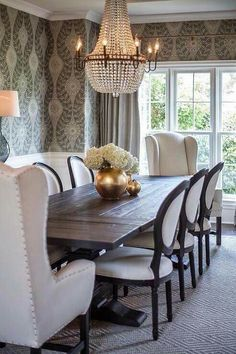 dining rooms - dining room mix match chairs french dining table