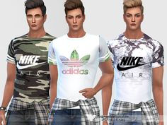 Sporty T-shirts For Him by Pinkzombiecupcakes at TSR • Sims 4 Updates