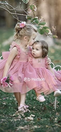 Girls Dresses, Flower Girl Dresses, Welcome Spring, Beautiful Friend, Little Sisters, Lace Tops, Pretty In Pink, Amazing Women, Outfit Of The Day