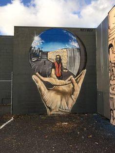 Streetart Straßenkunst Missed Opportunity - Are my parents to Blame? Street Wall Art, Graffiti Wall Art, Murals Street Art, Street Art Graffiti, Mural Art, Amazing Street Art, Amazing Art, Art Du Monde, Urbane Kunst
