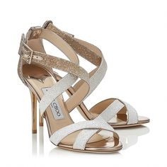 136fce7e0db7 Optic White and Light Honey Coarse Glitter Degrade Sandals