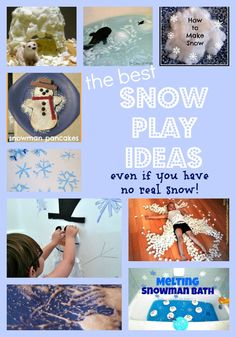 Great snow play kids - fun winter kids activities whether you have any real snow or not!