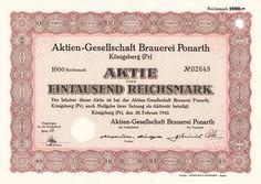 AG Brauerei Ponarth, Königsberg 1942