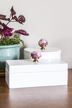 DIY Geode Jewelry Box Tutorial from Transient Expression