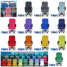 Colorful Office Chairs Solid Color Chirt Chair Shirt Custom Cover