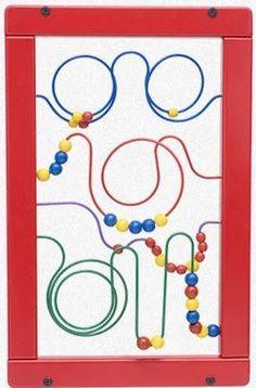 Keebee Wire & Bead Maze Wall Panel Toy - SensoryEdge