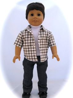 American Girl Boy Doll He is a Brunette with by enchanteddesigner, $155.00