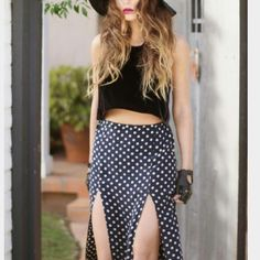 """Polka dot maxi skirt Polka dot maxi skirt. Light material perfect for spring/summer. N.W.O.T.   Length- 38""""  Waist- 16"""" Cotton On Skirts Maxi"""