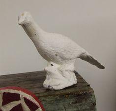 Vintage Shabby Chic White dove yard ornament by honeyblossomstudio, $15.99
