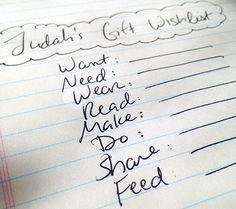 Want, Need, Wear, Read, Make, Do, Share, Feed