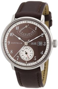 7be942fcd235 Shop for Graf Zeppelin Hindenburg Automatic Watch with Power Reserve Get free  delivery at Overstock - Your Online Watches Store!