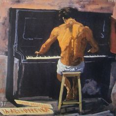 Yannis Tsarouchis The naked pianist Greece Painting, 10 Picture, Conceptual Art, Pictures To Paint, Printmaking, Contemporary Art, Art Pieces, Art Gallery, Fine Art