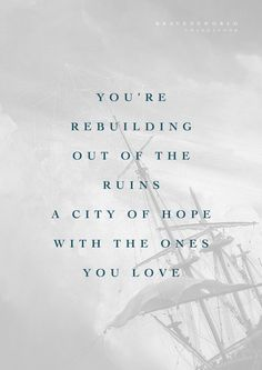 """You're rebuilding out of the ruins, a city of hope with the ones You love."" // Amanda Cook​ shares on the blog about her new song ""City of Hope"" from ""Brave New World"": bethelmusic.com/blog/city-of-hope-a-promise-of-restoration"