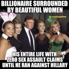 Actually, until he put Bills sexual assault women in her face, in front of America. God Bless You Trump! Making America Great Again. Liberal Hypocrisy, Liberal Logic, Stupid Liberals, Socialism, Politicians, Out Of Touch, Our President, Conservative Politics, Political Views