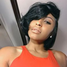 80 Bob Hairstyles To Give You All The Short Hair Inspiration - Hairstyles Trends Cute Hairstyles For Short Hair, Best Short Haircuts, Short Hair Cuts For Women, Girl Short Hair, Black Women Hairstyles, Straight Hairstyles, Curly Hair Styles, Bob Haircuts, Quick Hairstyles