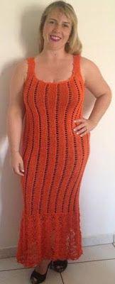 Receita de Tricô: Vestido longo – Vitória Quintal