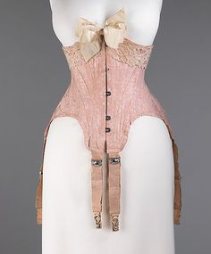 Redfern (attributed to) waist cincher, circa 1900. #lingeriehistory Via The Metropolitan Museum of Art, New York