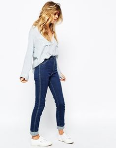 high waisted jeans asos
