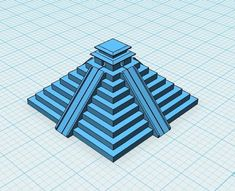 A basic Aztec pyramid created using Design I didn't bother putting in stairs as the way most printers print, a tiered effect occurs natur Tool Design, Sketching, Aztec, Exercises, Printing, Exercise Routines, Excercise, Exercise Workouts, Sketch