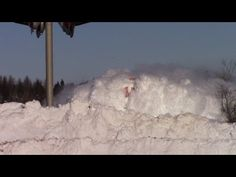 The Canadian National Railway locomotive plows through huge snow drifts as it leads the daily CN manifest train 406 West. Wondering if the crew can even see! Train Pictures, Funny Pictures, Canadian National Railway, National Train, Trains, Snow Showers, Dashing Through The Snow, New Brunswick, Snow
