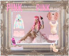 """""""PINK in the morning, PINK at night!"""" by fauxrealbeauty on Polyvore"""