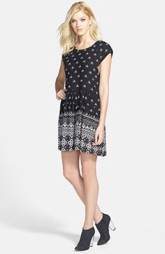 MINKPINK Patterned Babydoll Dress available at #Nordstrom