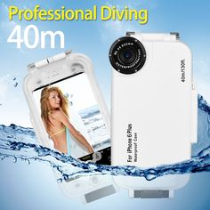 49.14$  Buy here - http://aiuue.worlditems.win/all/product.php?id=32792498179 - Meikon High Quality 40m Waterproof  Diving Underwater Photography Housing Case For iphone 6plus 6splus 130ft Water Resistant