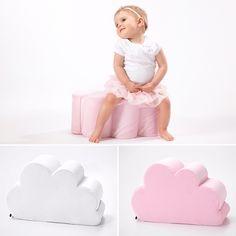 Cloud pouf baby room decor kids room girls room pink nursery cloud theme