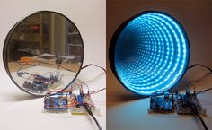Obvious Winner - ow - Arduino Controlled LED Infinity Mirror Creates a Personal Rainbow Vortex