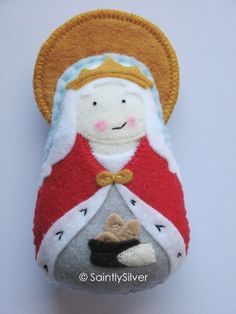 Saint+Elizabeth+of+Hungary+Felt+Saint+Softie+by+SaintlySilver,+$20.00