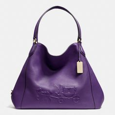 e23bbfad07e The Embossed Horse And Carriage Large Edie Shoulder Bag In Pebbled Leather  from Coach Cheap Coach