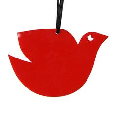 Red dove Christmas decoration