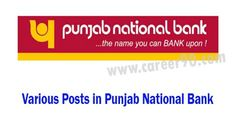 Various Posts in Punjab National Bank.#panjab #pnb