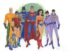 La Liga de la Justicia de los 80 ,Los Super amigos - Identi