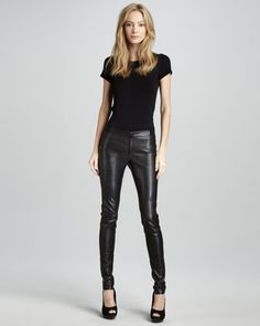 Alice & Olivia Leather Leggings - Neiman Marcus