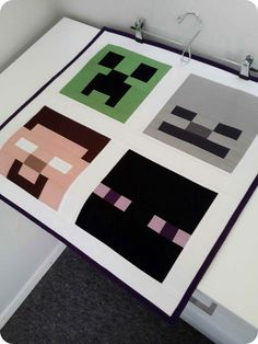 Minecraft Quilt Blocks ... cutting dimensions for all blocks ~ Monkey Makes Three