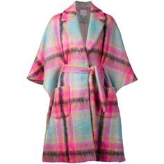 Delpozo plaid oversized coat ❤ liked on Polyvore featuring outerwear, coats, delpozo, oversized coat, tartan coats and plaid coat