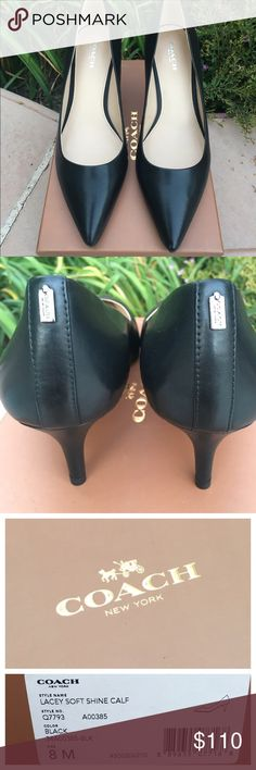 """BNIB Coach pumps Gorgeous brand new in box Coach pumps. Adorable coach metal tag on the back heels. 2.5"""" heel - super comfy. Pristine condition leather. Coach Shoes Heels"""