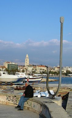 Harbor of Split, Croatia