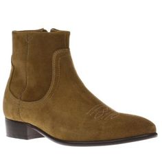 H by Hudson Tan Winston Mens Boots Gents, its time to take your style to the Wild Wild West this season, as H by Hudson serve up their Winston ankle boot. Crafted in tan suede, the cowboy-inspired design features decorative stitch deta http://www.MightGet.com/january-2017-13/h-by-hudson-tan-winston-mens-boots.asp
