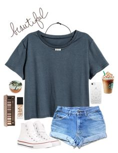 livin life by gabyleoni on Polyvore featuring polyvore, fashion, style, H&M, Converse, Casetify, Urban Decay, NARS Cosmetics and clothing
