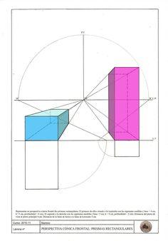 E. PLÁSTICA Y VISUAL 3ºESO: Lámina 21: Perspectiva cónica frontal: PRISMAS RECTANGULARES