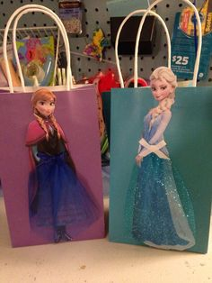 Frozen Inspired  Party Favor Bags with by DoodlesSweetTreats, $2.50