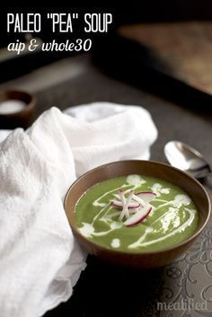 Paleo Pea Soup (no legumes!) from http://meatified.com - AIP, Whole30 & Dairy Free
