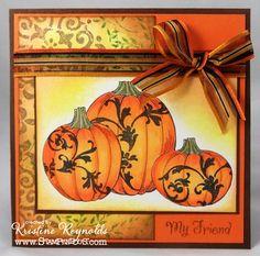 Damsk Pumpkina by stampwithkristine - Cards and Paper Crafts at Splitcoaststampers