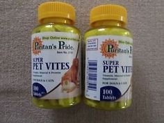 Super Pet Vites 100ct 2 Bottles ** Special dog product just for you. See it now! : Dog Health Supplies