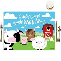 Party Table Decorations, Decoration Party, Farm Animal Party, Farm Animals, Big Dot Of Happiness, Baby Shower, Farm Yard, Perfect Party, Dining Tables