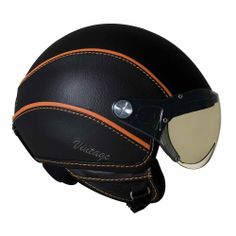 Vintage Motorcycles Vintage Open Face Motorcycle Helmet - Vintage motorcycle helmets for today's modern biker have the look and feel of an old school retro helmet, with modern safety and style upgrades. Open Face Motorcycle Helmets, Open Face Helmets, Motorcycle Gear, Green Motorcycle, Motorcycle Fashion, Motorcycle Jackets, Retro Helmet, Vintage Helmet, Riding Gear