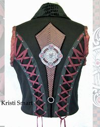 My Heavy Metal Lace up Pirate Vest
